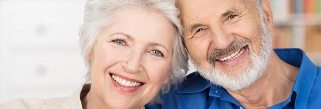 Bild:Gesunde Zähne bei Senioren